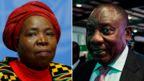 A composite showing Nkosazana Dlamini-Zuma and Cyril Ramaphosa
