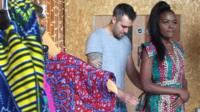 Model and dressmaker
