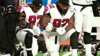 Stars protest during US National Anthem