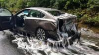 Car slimed in Oregon