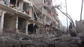 A doctor in Eastern Ghouta says despite the ceasefire, there is still some shelling, although less than before.