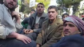 Evacuees from the Eastern Ghouta