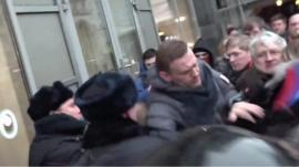 Navalny detained