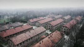 Aerial views of Auschwitz-Birkenau