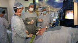 Professor Rubino operating on David