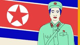 Illustration of North Korean soldier