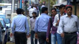Pedestrians in Hyderabad