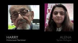 Holocaust survivor Harry and Syrian refugee Alena