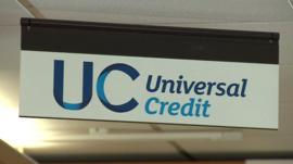 Universal Credit sign in office