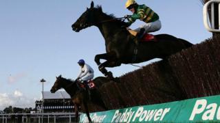 Paddy Power branding at horse racing